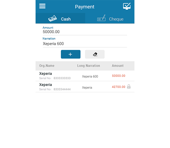 List of Payment